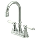 Elements of Design ES2491PL Two Handle Bar Faucet without Pop-Up Rod, Polished Chrome
