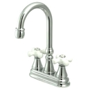 Elements of Design ES2491PX Two Handle Bar Faucet without Pop-Up Rod, Polished Chrome