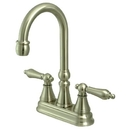 Elements of Design ES2498AL Two Handle Bar Faucet without Pop-Up Rod, Satin Nickel