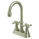 Elements of Design ES2498KX Two Handle Bar Faucet without Pop-Up Rod, Satin Nickel