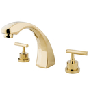 Elements of Design ES4362CML Two Handle Roman Tub Filler, Polished Brass
