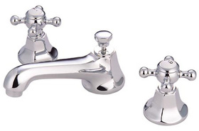 "Elements of Design ES4461BX Two Handle 8"" to 16"" Widespread Lavatory Faucet with Brass Pop-up, Polished Chrome"
