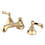 """Elements of Design ES4462FL Two Handle 8"""" to 16"""" Widespread Lavatory Faucet with Brass Pop-up, Polished Brass"""
