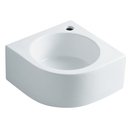 Kingston Brass EV1094 White China Vessel Bathroom Sink with Faucet Hole, White