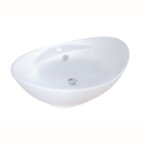 Kingston Brass EV4080 White China Vessel Bathroom Sink with Overflow Hole & Faucet Hole, White