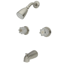 Kingston Brass KB148 Two Handle Tub & Shower Faucet, Satin Nickel