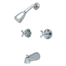 Kingston Brass KB241AX Two Handle Tub & Shower Faucet, Chrome