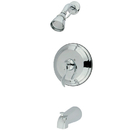 Kingston Brass KB2631DFL Single Handle Tub & Shower Faucet, Chrome
