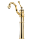 Kingston Brass KB3422BL Single Handle Vessel Sink Faucet with Optional Cover Plate, Polished Brass
