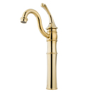 Kingston Brass KB3422GL Single Handle Vessel Sink Faucet with Optional Cover Plate, Polished Brass