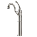 Kingston Brass KB3428GL Single Handle Vessel Sink Faucet with Optional Cover Plate, Satin Nickel