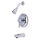 Kingston Brass KB46310DL Single Handle Tub & Shower Faucet, Chrome