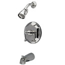 Kingston Brass KB4631BL Single Handle Tub & Shower Faucet, Chrome