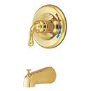 Kingston Brass KB632TO Single Handle Tub Faucet, Polished Brass