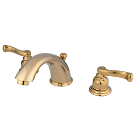 "Kingston Brass KB8962FL Two Handle 8"" to 16"" Widespread Lavatory Faucet with Brass Pop-up, Polished Brass"
