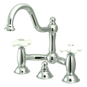 "Kingston Brass KS3911PX Two Handle 8"" Widespread Lavatory Faucet with Brass Pop-up, Chrome"