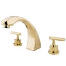 Kingston Brass KS4362CML Two Handle Roman Tub Filler, Polished Brass