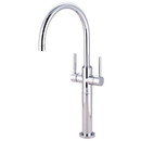 Kingston Brass KS8091DL Two Handle Vessel Sink Faucet, Polished Chrome