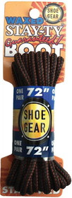 "WAXED BOOT LACES 72"" BRN/BRN by liberty mountain"