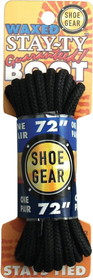 """WAXED BOOT LACES 72"""" BLK/BLK by liberty mountain"""