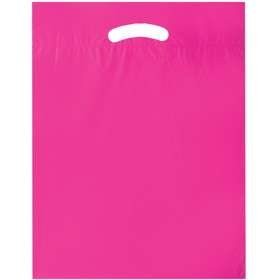 "American AD Bag AWRIBBON Awareness 2.5 Mil Fold-Over Die Cuts, 12"" W x 15"" H x 3"" G - Blank, Price/each"
