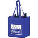 Custom VINE6 6 Wine Bottle Bag With Velcro Closure Handles