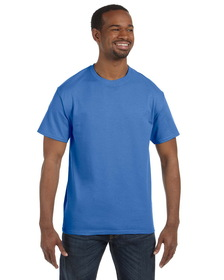 Hanes 6.1 oz. Tagless ComfortSoft T-Shirt, 100% Preshrunk Comfortsoft Cotton, Blank - Colors, Price/piece