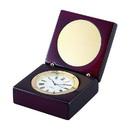 Custom Square Wood Box w/ Clock & Eng. Plate