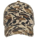 Blank 113-786 Youth Camouflage Superior Garment Washed Cotton Twill Distressed Visor Low Profile Pro Style Cap