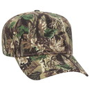 Custom 120-838 Camouflage Brushed Cotton Twill Pro Style Cap with Fabric Adjustable Hook