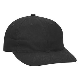 18-016 Brushed Cotton Twill Low Profile Pro Style Cap with Fabric Adjustable Hook, Price/each