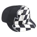 Blank 56-149 Racing Flag Pattern Cotton Twill Pro Style Cap