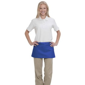 7.5 oz. Three Pocket Waist Cotton Twill Aprons, 65/35 Polyester/Cotton, Blank - Colors, Price/piece
