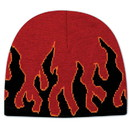Custom 91-634 Flame Design 100% Acrylic Knit 8 Beanie with Fabric Adjustable Hook