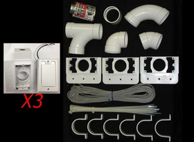 Built-In 793375W Kit, 3 Inlet W/Supervalve White