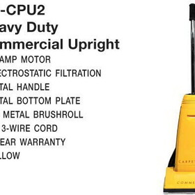 Carpet Pro CPU2 Vac, Upright Vacuum 10A 40' 3-Wire Headlight