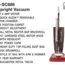 Eureka SC888K, Vac, Sanitaire Vacuum 7Amp 12