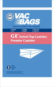 GE/Premier 405329 Paper Bag, Ge Swivel Top Canister Dvc 5pk