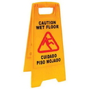 Jansan P1203, Sign, Caution/Wet Floor English/Spanish