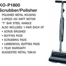 Koblenz 00-2080-0, Polisher, No Tank 2 Speed T Handle 450 Watt