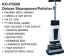 Koblenz 00-2079-2, Shampooer Polisher, 144 oz 2 Speed T Handle 4.2Amp
