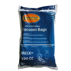 Oreck 713 Paper Bag, Type Cc Uprts W/Bag Dock Micro Env 8pk
