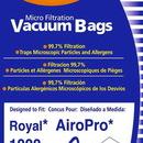 Royal 213, Paper Bag, Royal Type P W/Filter Env 7PK