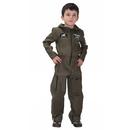 TopTie Jet Pilot Child Costume, Air Force Jumpsuit For Kid