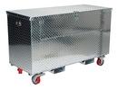 Vestil APTS-3060-CF-FD alum tool box fold dwn caster/fork 30x60