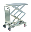 Vestil CART-200-D-PSS partial ss elevating cart 220lb 17.5x27