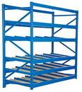 Vestil FLOW-3-5 carton rack w/gravity roll 36 in 5 lvl