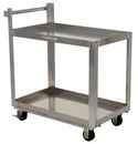 Vestil SCA2-2236 alum service cart w/ two 22 x 36 shelves