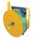 Vestil STRAP-WALL wall-mounted strapping cart