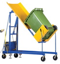 Vestil TCD-M-72-AC ac power trash can dumper 400lb 86.5 in